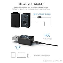 2 in1 Bluetooth Receptor Transmisor 3.5mm AUX Bluetooth 5.0 Adaptador Para Altavoz de Auriculares Transmisor de Audio Inalámbrico TV en venta