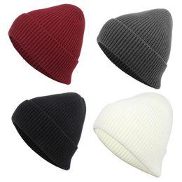 Cool Winter Beanies For Men Australia - Quality Hip Hop Rib Beanies Hats For Adults Mens Womens Acrylic Knitted Winter Head Warmer Woman Man Sport Snow Cap Cool Plain Hair Bonnet