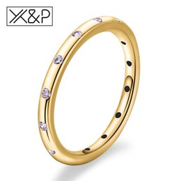 luxury wedding rings for men 2019 - X&P Simple Fashion Gold Silver Crystal Rings for women man 2019 Romantic Engagement Ring Luxury Dainty femme Jewelry Sta