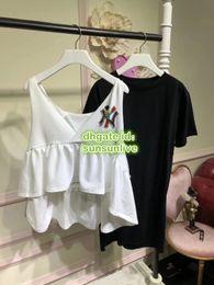 $enCountryForm.capitalKeyWord Australia - Women Fashion Luxury Designer Letter Beads Two Piece Dress Tops T-Shirt Shirt Vest+Mini Tee Skirt Dress Casual Runway Tee Shirt Suit Sets