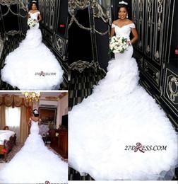 $enCountryForm.capitalKeyWord Australia - 2019 Lace Mermaid Wedding Dress Boho Beach Off Shoulder Bridal Gown Backless Cheap Plus Size Vintage Wedding Dresses Custom Made
