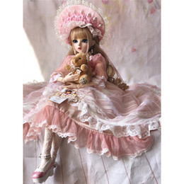 $enCountryForm.capitalKeyWord Australia - 60CM BJD Girls Princess Makeup Toys Jointed With Full Outfit SD Dolls Children DIY Dress Up Doll Valentines Gift