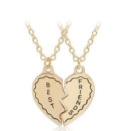 b5c7a8cdbe 2019 New Fashion Jewelry New Bohemian Wild Alloy Best Friend Necklace Set  Friend Birthday Gift Witness Love Friendship Suit Necklace