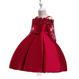 $enCountryForm.capitalKeyWord Australia - 2019 Spring Teenage Long Sleeve Christmas Dress Party Prom Wedding Dress Kids Dresses For Girls Costume Clothes Princess