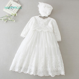 $enCountryForm.capitalKeyWord NZ - Happyplus Baby Dress Long Sleeve sleeveless Kids Second First Birthday Girl Party Gown For Bridesmaid Infant Baptism Dresses Y19061101