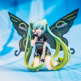 Racing miku figuRe online shopping - Hot Sale Anime Cute Hatsune Miku Butterfly Racing PVC Action Figure Collectible Model Toy For Kids Gifts
