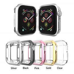 Custodia protettiva per paraurti placcato in morbido TPU per Apple Watch serie 1/2/3/4 in Offerta