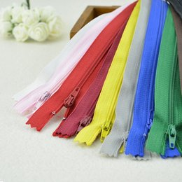 $enCountryForm.capitalKeyWord UK - 10 pcs DIY Accessories for Sewing Clothing Plastic Nylon Zip Coil Sewing Trousers Zippers 8.66 Inch 22cm