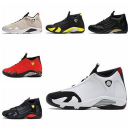 $enCountryForm.capitalKeyWord Australia - New 14 14s Candy Cane Black Toe Fusion Varsity Red Suede Men Shoes Last Shot Thunder Black Yellow DMP Sneakers