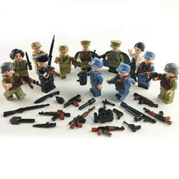 Military Figures Australia - 12pcs lot Military Chinese Soldiers Army Figures Force Building Blocks Bricks Models Sets Toys Children Gift Toys