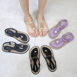 $enCountryForm.capitalKeyWord Australia - 2019 Summer Bohemian Women Shoes Flat Flip-flop Rhinestone Designer Sandals Beach Boho Ankle Strap Slides Shoes