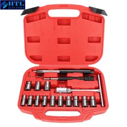 injector tools NZ - Injector Remover 17Pcs Diesel Injector Seat & Cleaner Carbon Remover Seat Tools Cutter Milling Cutter Set Universal Car Tool Kit