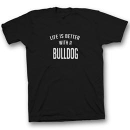 33258266d funny unisex bulldog bull dog t-shirt tshirt top dog dogs gift mens new dad  mum Funny free shipping Unisex Casual Tshirt top