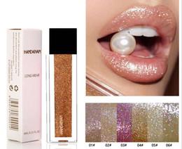 $enCountryForm.capitalKeyWord Australia - HANDAIYAN Metal Liquid Lipstick 6 colors Waterproof Makeup Metallic Lip Gloss Long-lasting Shimmer Glitter Lipgloss Tint Maquillage