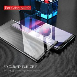 galaxy note protectors Canada - New arrival Qoowa high end Full glue 3D curved tempered Glass Screen Protector for Samsung Galaxy Note 9 full cover Glass Film