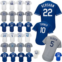 085dae822 Los Angeles Dodgers Baseball Jerseys 22 Clayton Kershaw 5 Corey Seager 66  Yasiel Puig 10 Justin Turner 3 Chris Taylor Men Sports clothes