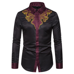 $enCountryForm.capitalKeyWord Australia - Cool2019 Self-cultivation Code European Court Embroidery Design Man Long Sleeve Shirt Ys007