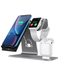 Table Stand For Tablets Australia - Wireless Charger Phone For iWatch Stand for Airpods Charger Dock Phone Desktop Tablet Holder for Airpods table