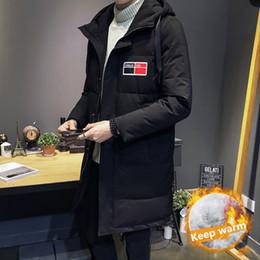 Warmest Goose Down Parka Australia - Winter High Quality 80% Gray goose down Jacket men coat Snow parkas male Warm Medium long Clothing winter Down Jacket Outerwear
