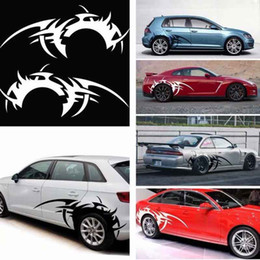 world cars Australia - Car Flame Hot Wheels Totem Rear Wheel Body Stickers Waterproof Automobiles Exterior Decals with World