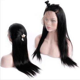 $enCountryForm.capitalKeyWord Australia - Hand Tied 360 Frontal Human Hair Full Lace Wigs Brazilian Virgin Human Hair Straight Lace Front Wigs Remy Full Lace Human Hair Wig