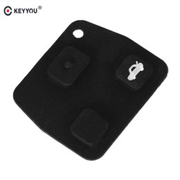 Replacement Key For Lexus Australia - 2x For Toyota Avensis Corolla For Lexus Rav4 3 Buttons Replacement Remote Car Key Fob Black Silicon Rubber Button Pad