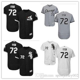 ffa4fb791dc Chicago White 2019 Men s Women s Youth Sox 72 Carlton Fisk Majestic Black  Alternate Authentic Flex Base Custom Baseball Jerseys