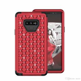 Двойной двухслойный чехол Diamond Diamond Гибкий 3 в 1 ПК ТПУ Противоударная крышка для iphone X 8 7 6s 6 плюс Samsung S9 plus Note 9 8 Opp Bag Aicoo на Распродаже