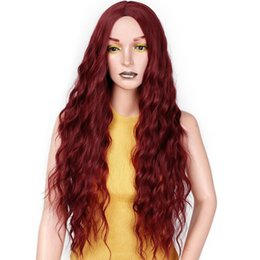 Red Black Long Hair Australia - I's a wig Synthetic Red Black Dark Brown and Ombre Blonde Hair Long Wigs for Women Free shipping