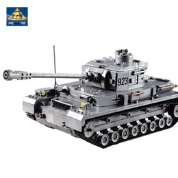 kazi blocks Australia - Kazi Large Iv Tank 1193pcs Building Blocks Military Army Model Set Educational Toys For Children CompatibleMX190820