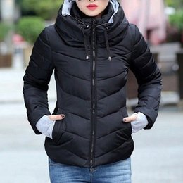 White Cotton Womens Parka Australia - Hooded Winter Jacket Short Cotton Padded Womens Coat Autumn Casaco Feminino Inverno Solid Color Parka Stand Collar