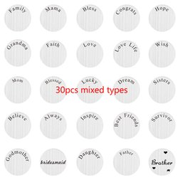 $enCountryForm.capitalKeyWord Australia - 30pcs lot different types mixed 22mm round stainless steel floating plate charm for 30mm glass living memory lockets