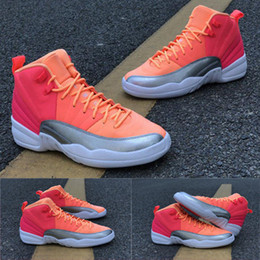 Carbon fiber basketball shoes online shopping - Top quality GS Hot Punch Basketball Shoes Racer Pink Hot Punch Bright Mango White Real Carbon Fiber Men Women Sneakers