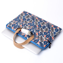 ultrathin laptop UK - Laptop Briefcase Computer Bag Ultrathin Canvas Printing Flower Chinese Style Laptop Bag For Macbook Pro air Unisex Handbag
