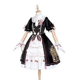 Chinese  Cosplay girl small skirt woody magic card girl cherry sakura black and white Lolita companion dress manufacturers