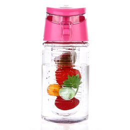 bpa free juice bottles wholesale Australia - New 450ml Fruit Infuser Water Bottle BPA-Free Fruit Infusion Sports Bottle Juice Shaker Sports Lemon Water Bottle Free Shipping