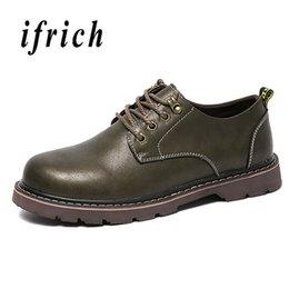 Discount casual men elegant shoes - 2018 Men Leather Shoes Brown Khaki Mens Fashion Footwear Comfortable Casual Brand Male Shoes Genuine Leather Elegant Men