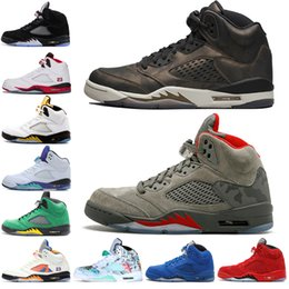 6f45999ff1d7 Hot New 5 5s Wings International Flight Mens Basketball Shoes Red Blue Suede  Olympic Gold Medal men sports sneakers designer trainers 7-13