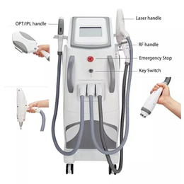Wholesale 3in1 IPL SHR E-Light RF Nd Yag Permanent Picosecond Laser Hair Removal and Wash the eyebrow Tattoo removal Beauty Machine For Beauty salon