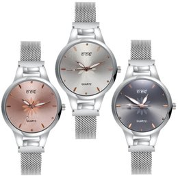 Petal watch online shopping - Fashion small flower petal dial women ladies flower pattern dress quartz watches alloy mesh band simple leisure casual watches