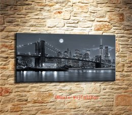 $enCountryForm.capitalKeyWord Australia - New York Brooklyn Bridge , Canvas Painting Living Room Home Decor Modern Mural Art Oil Painting