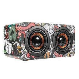 $enCountryForm.capitalKeyWord Australia - M5 Wooden Dual Driver Unit TF Card AUX FM Radio Stereo Bass Bluetooth Speaker With Mic