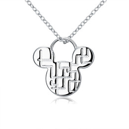 neck chains for girls NZ - necklace v neck dress Mickey Classic Silver Pendant Necklace Fashion Jewelry For girls beautiful birthday present global hot