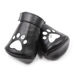 $enCountryForm.capitalKeyWord UK - Soft Padded Lined Leather Restraint Mittens bear Paw Palm Glove Role Play 1 pair AU54