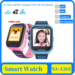 network camera android UK - 100x 4G Network A36E Wifi GPS SOS Smart Watch Kids Video call IP67 waterproof Alarm Clock Camera Baby Watch VS Q50 Q90