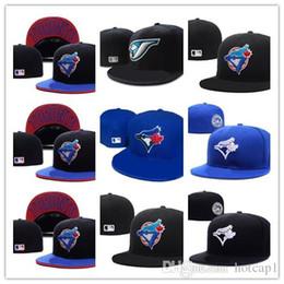 New Hot Men Toronto Blue Colore cappello montato piatto Brim embroiered blue jays team logo fan Cappello da baseball Blue Jays full chiuso Chapeu reggiseno in Offerta