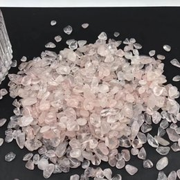 tumbling stones UK - High Quality Natural Rose Quartz Polished Crystal Gravel Tumbled Stone Semi-Precious Stone Crafts For Sale