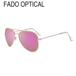 China Fado Optical Gold Metal Sunglasses Aviator Pilot Men Women Vintage Sun Glasses Polarized Fashion Designer Driving Beach Sporty Oculos de sol suppliers
