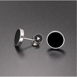 4e1bd5048 Black Stud Earrings For Men Australia - Fashion 1 Pair Round Shape Vintage Stud  Earrings for