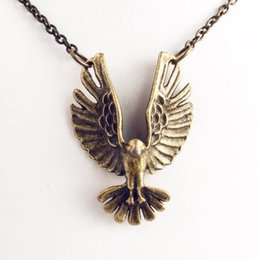 Eagle Hawk Pendant Australia - Flying Eagle Necklaces Falcon Gothic Punk Hawk Necklace Pendants Men Women Jewelry Accessories Brave Traveler Choker Ferocious Raptor Collar